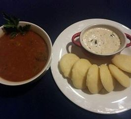 Sooji Idli with Vegetable Sambhar Recipe