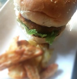 Veg Burger With Oven Baked Fries Recipe