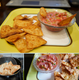Leftover Roti Nachos with Salsa Recipe
