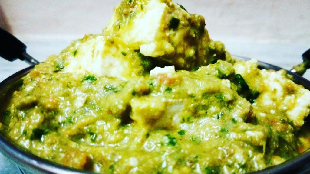Punjabi Palak Paneer Tadka Recipe
