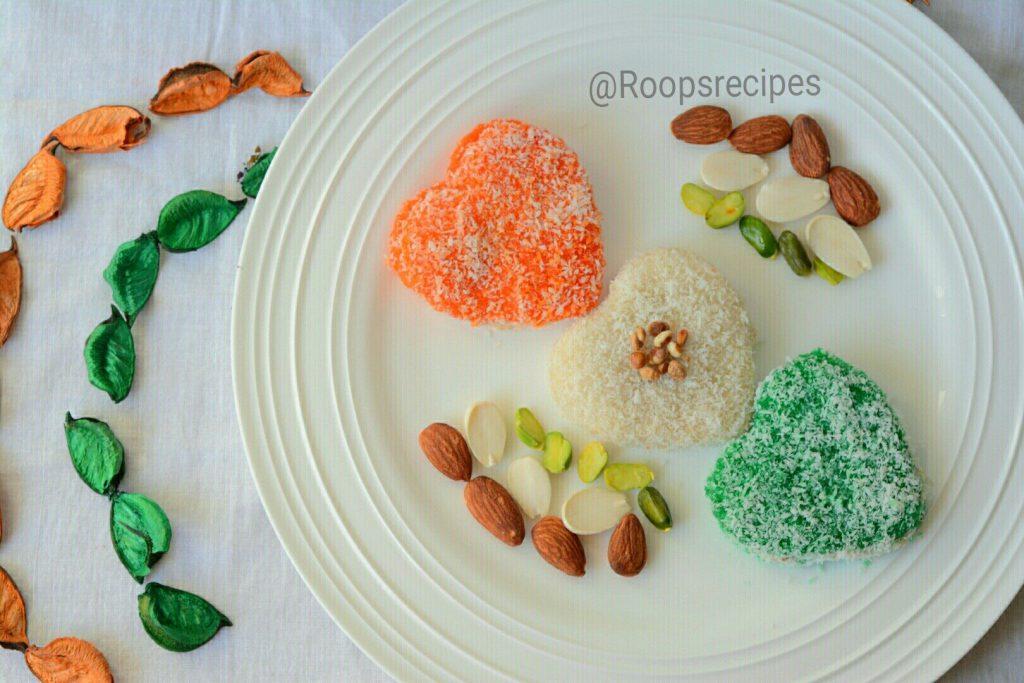 Tricolor Milky Heart Bite Recipe