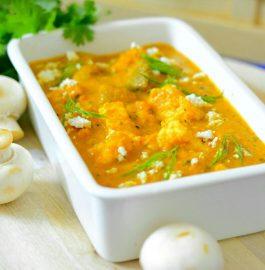 Paneer Mushroom Curry Recipe