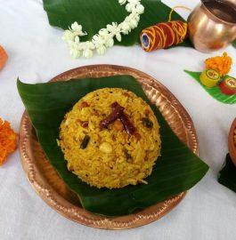 Puliyodharai - South Indian Tamarind Rice Recipe