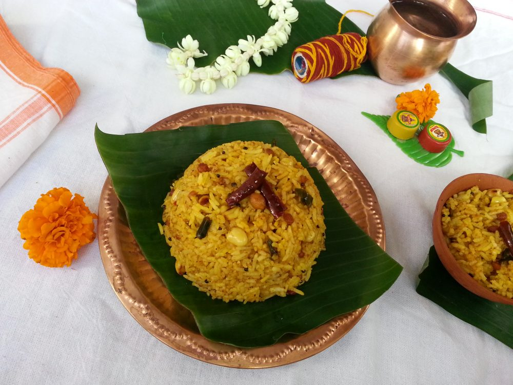 Puliyodharai - South Indian Tamarind Rice Recipe
