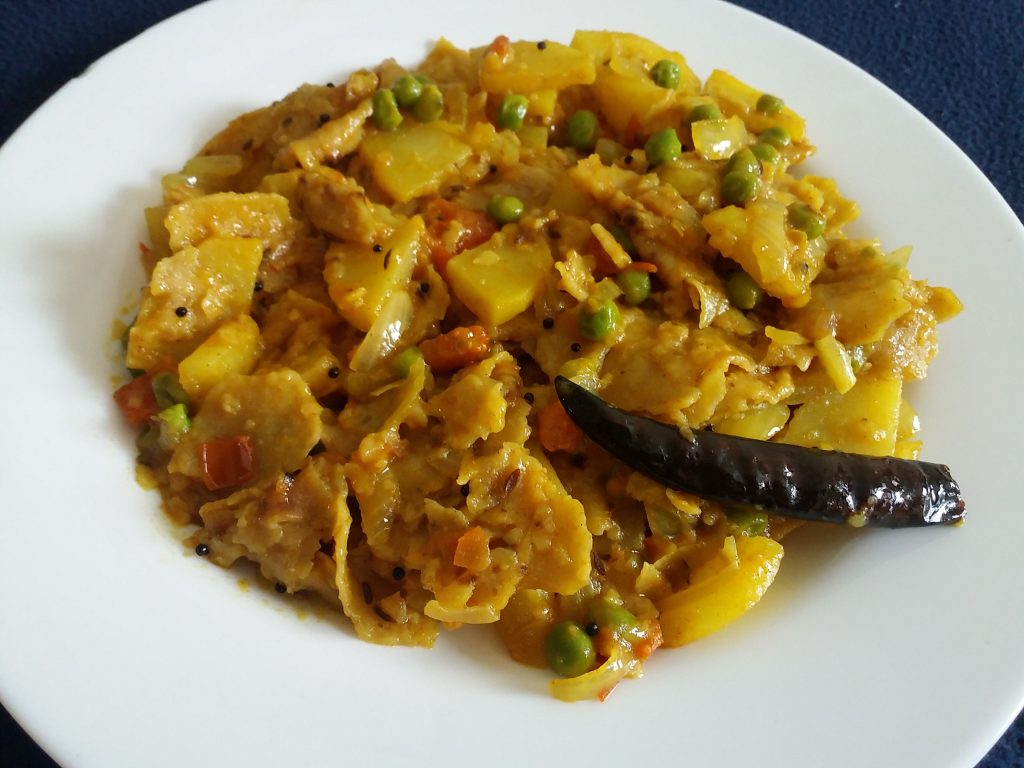 Left over Roti Khichdi Recipe