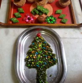 Xmas Tree Muffins with Dry Fruits Dates Recipe
