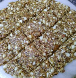 Peanuts Til ki Chikki ( Homemade Energy Bar) Recipe