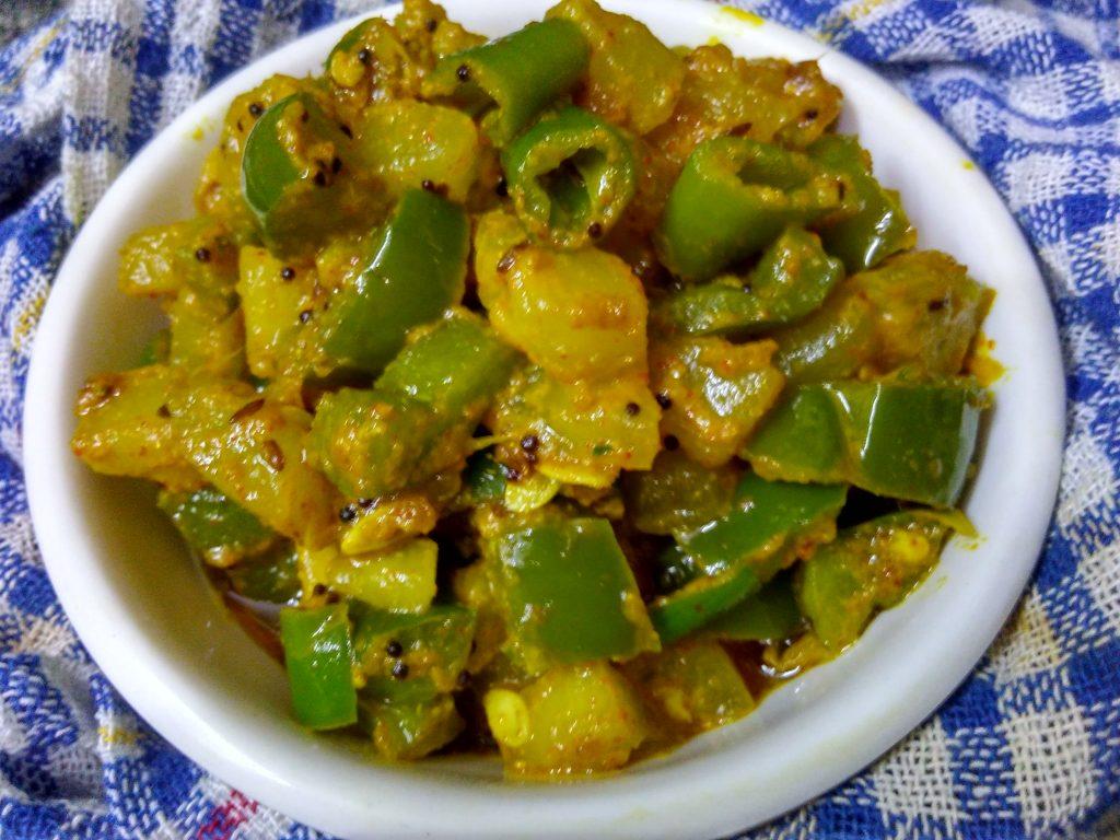 Kheera Mirchi ki Sabzi Recipe