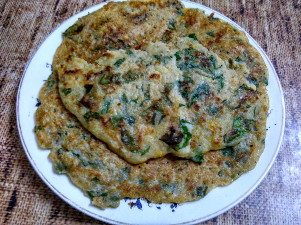 Oats Spinach Pancakes Recipe