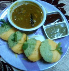 Two Colour Idli Recipe