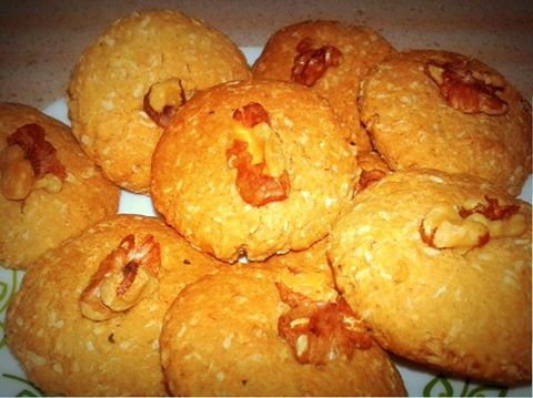 Wheat Coconut Cookies Recipe