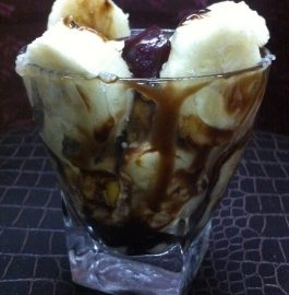 Chocolate Mix Fruit Ice-cream Delight Recipe