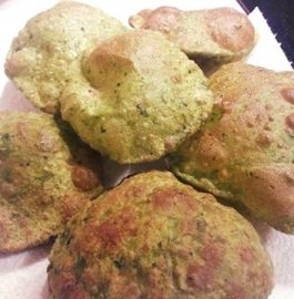 Palak(Spinach) Poori Recipe