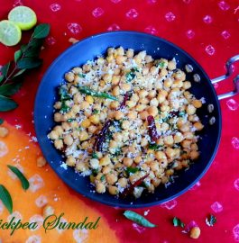 Chickpea / Chana Sundal Recipe
