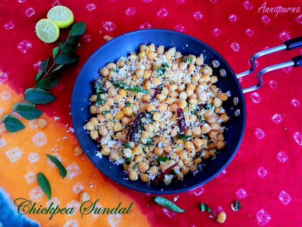 Chickpea / Chana Sundal Recipe