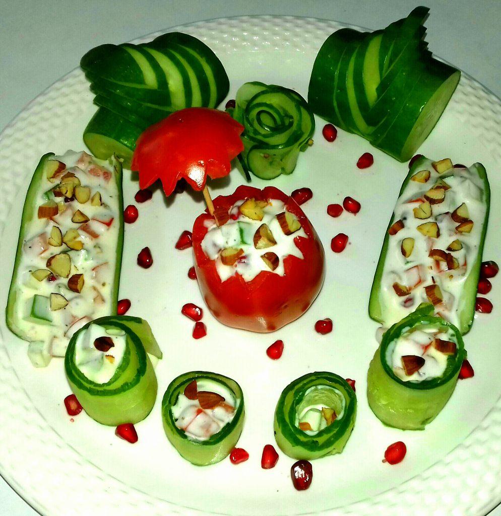 Russian Veg Cucumber/Tomato Salad Recipe