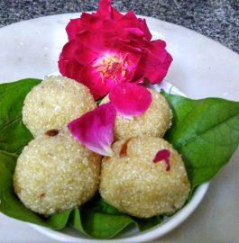 Sooji Coconut Malai Ladoos Recipe