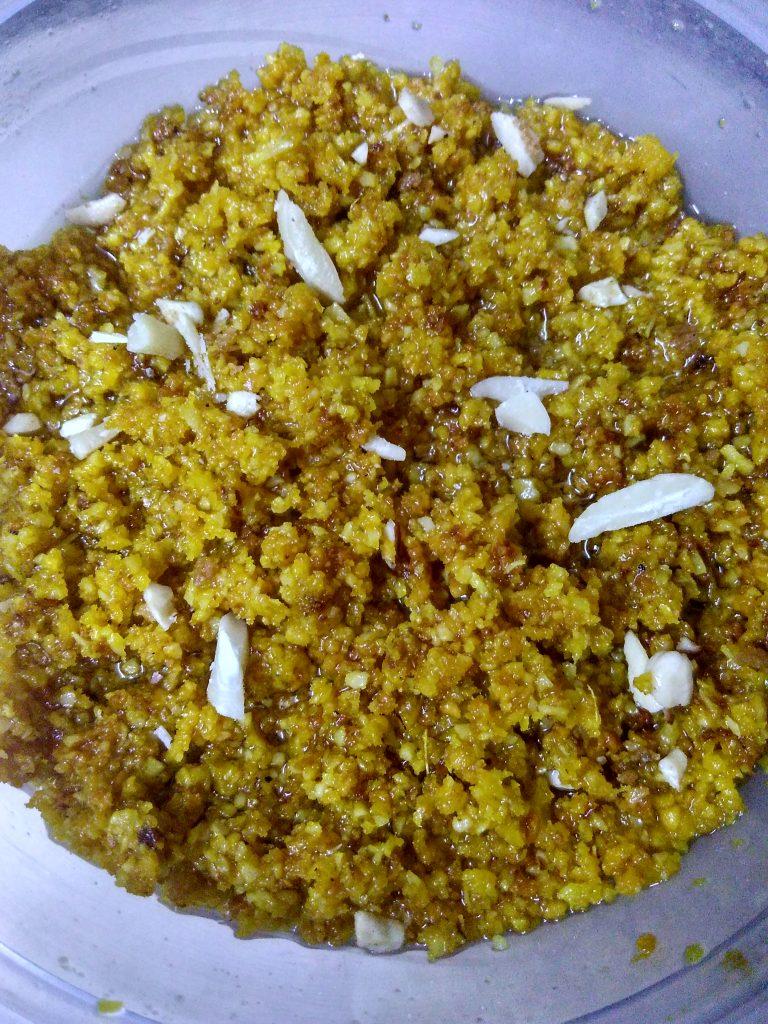 Rajasthani Moong Dal-Badam ka Halwa Recipe