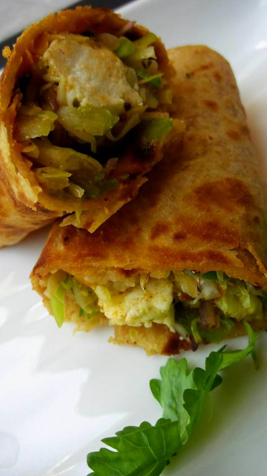 Vegetable Paneer Frankie - Delicious Bite!