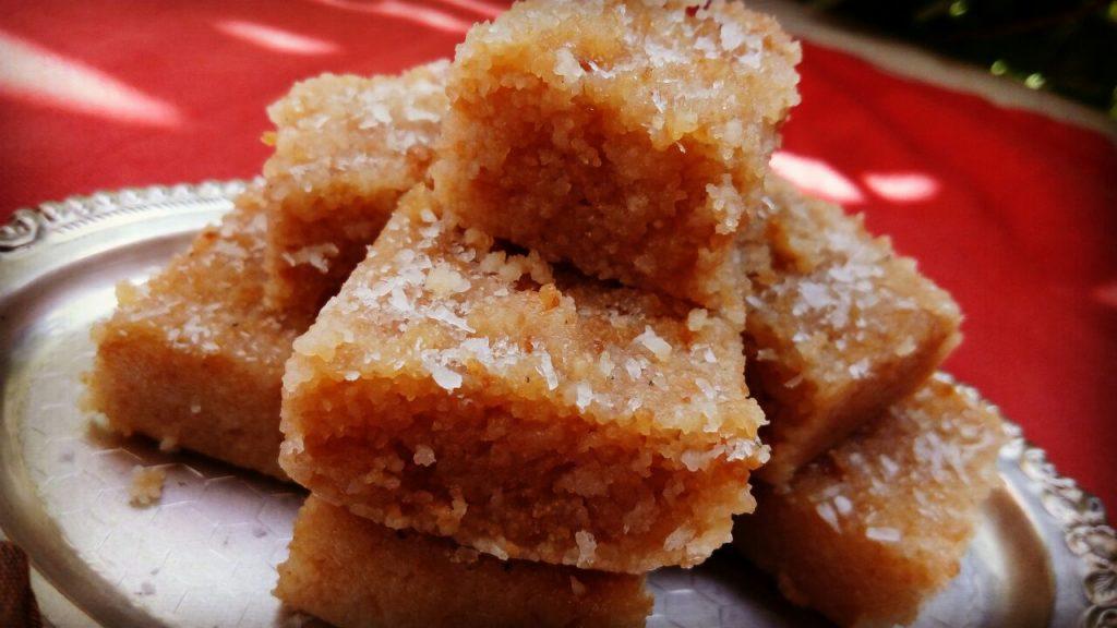 Suji Coconut Burfi Recipe