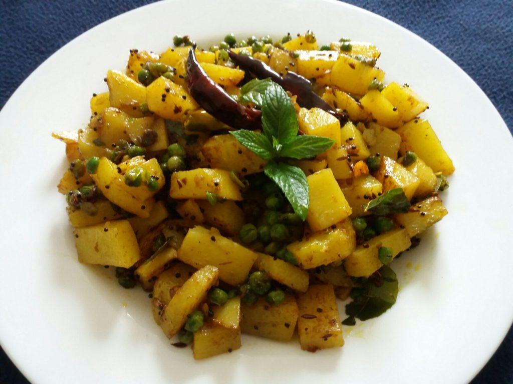 Dry Aloo Matar Curry Recipe