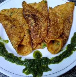 Sooji Besan Vegetable Pancakes Recipe