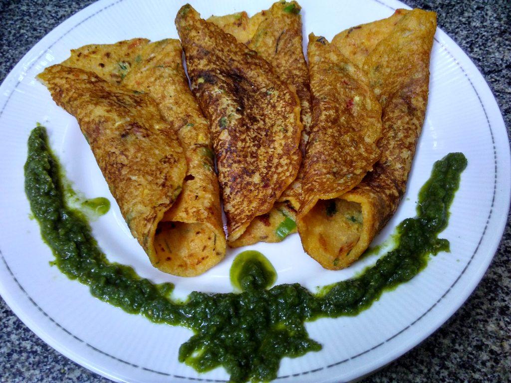 Sooji Besan Vegetable Pancakes Recipe