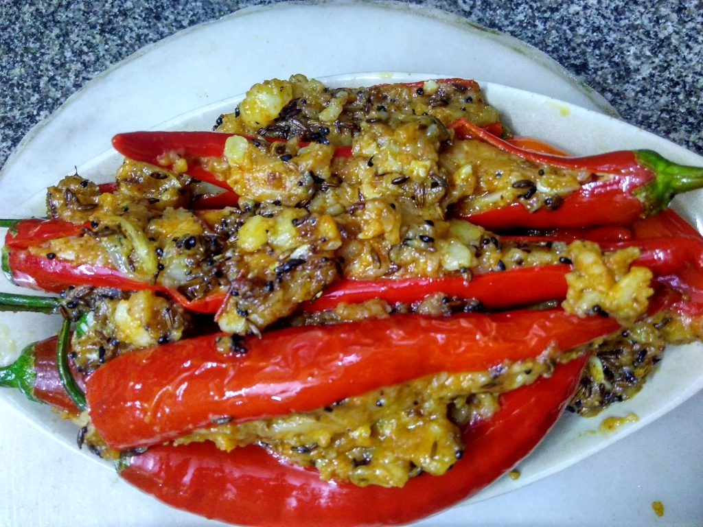 Stuffed Spicy Red Chilies Recipe