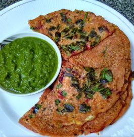 Vegetable-Oats-Semolina Uttapam Recipe