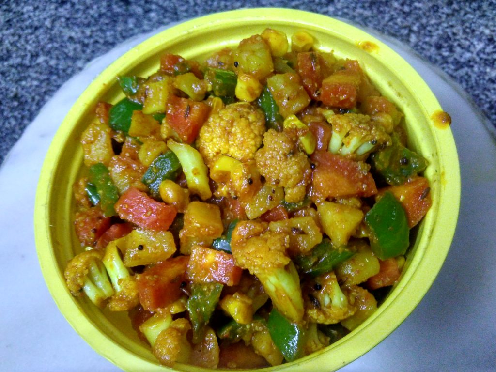 Mix Veg Masala Sabzi Recipe