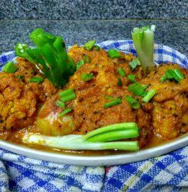 Gobhi Mussalam - Gobhi in Onion Tomato Gravy Recipe