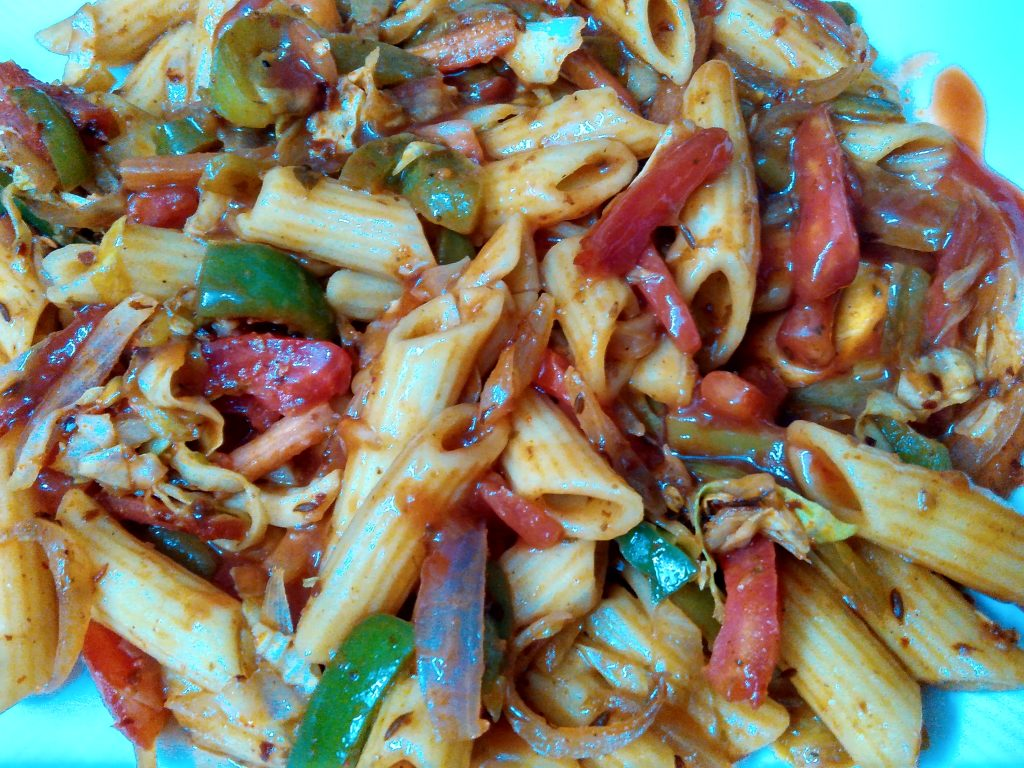 Spicy Penne Pasta in Red Sauce Recipe