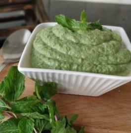 Green Chutney - Restaurant Style Recipe | Mint Coriander Chutney Recipe