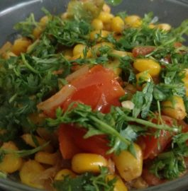 Corn Capsicum Masala Recipe