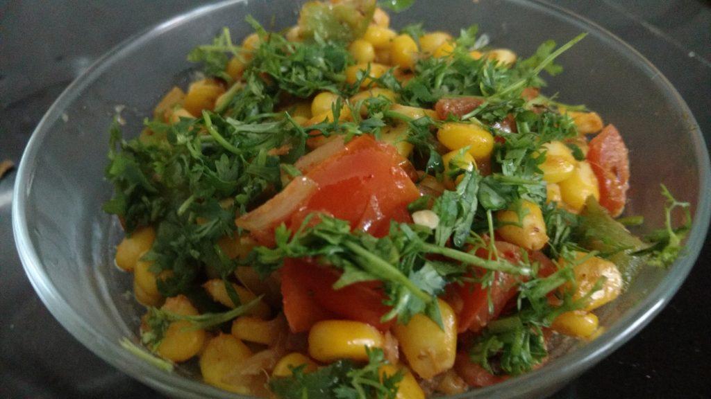 Corn Capsicum Masala Recipe