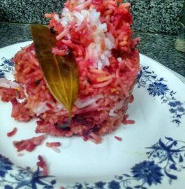 Beetroot Layered Jeera Rice Recipe