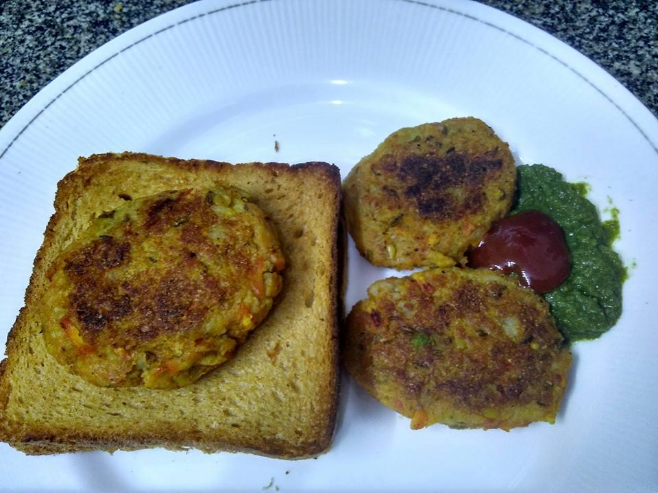 Leftover Khichdi Veggie Cutlets Recipe