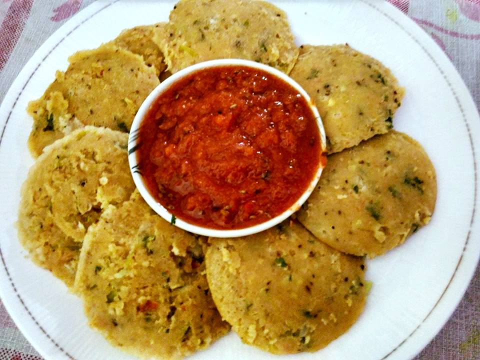 Oats Veggie Idli Recipe