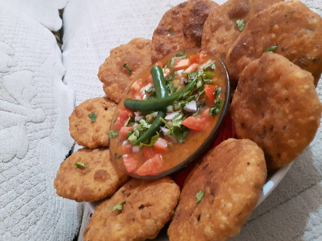 Stuffed Kachori Chole Chaat- Spicy Snacks