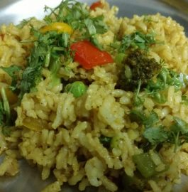 Brown Rice Masala Pulao Recipe
