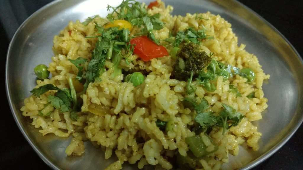Brown Rice Masala Pulao Recipe