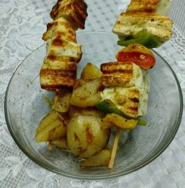 Vegetable and Paneer on Skewers Recipe