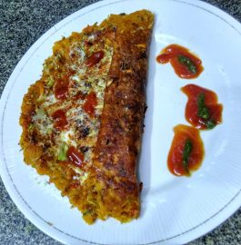 Mix Daal Pizza/Mix Daal Jini Dosa Recipe