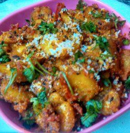 Raw Banana Masala Sabzi Recipe