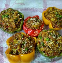 TriColored Stuffed Capsicum Recipe