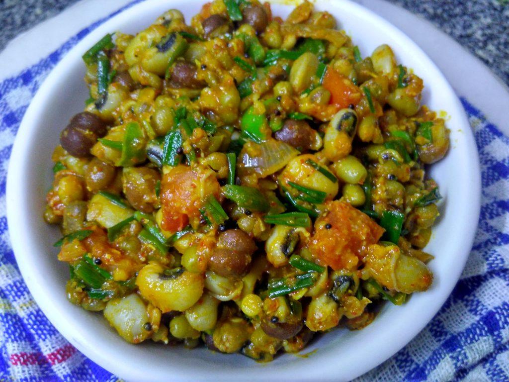 Mixed Sprouts Masala Sabzi Recipe