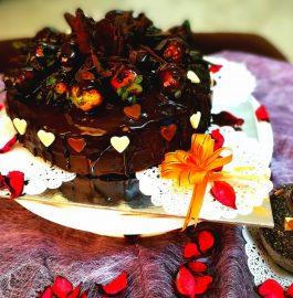 Dripping Eggless Chocolate Cake Recipe