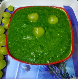 Grapes Coriander Chutney Recipe