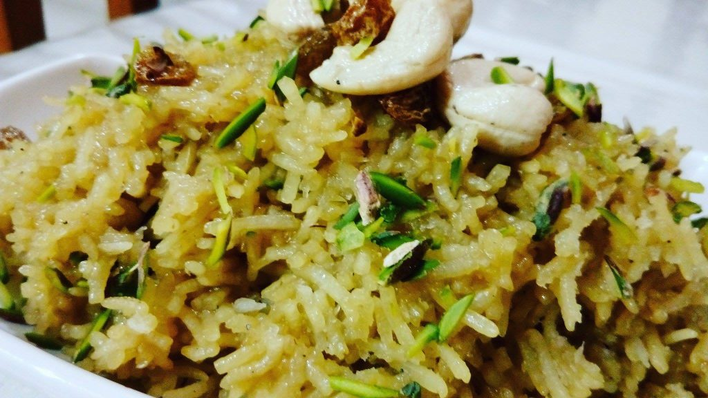 Zarda Pulao : A Sweet Flavoured Rice