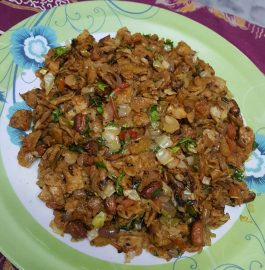 Vegetable Poha of Leftover Roti - Healthy